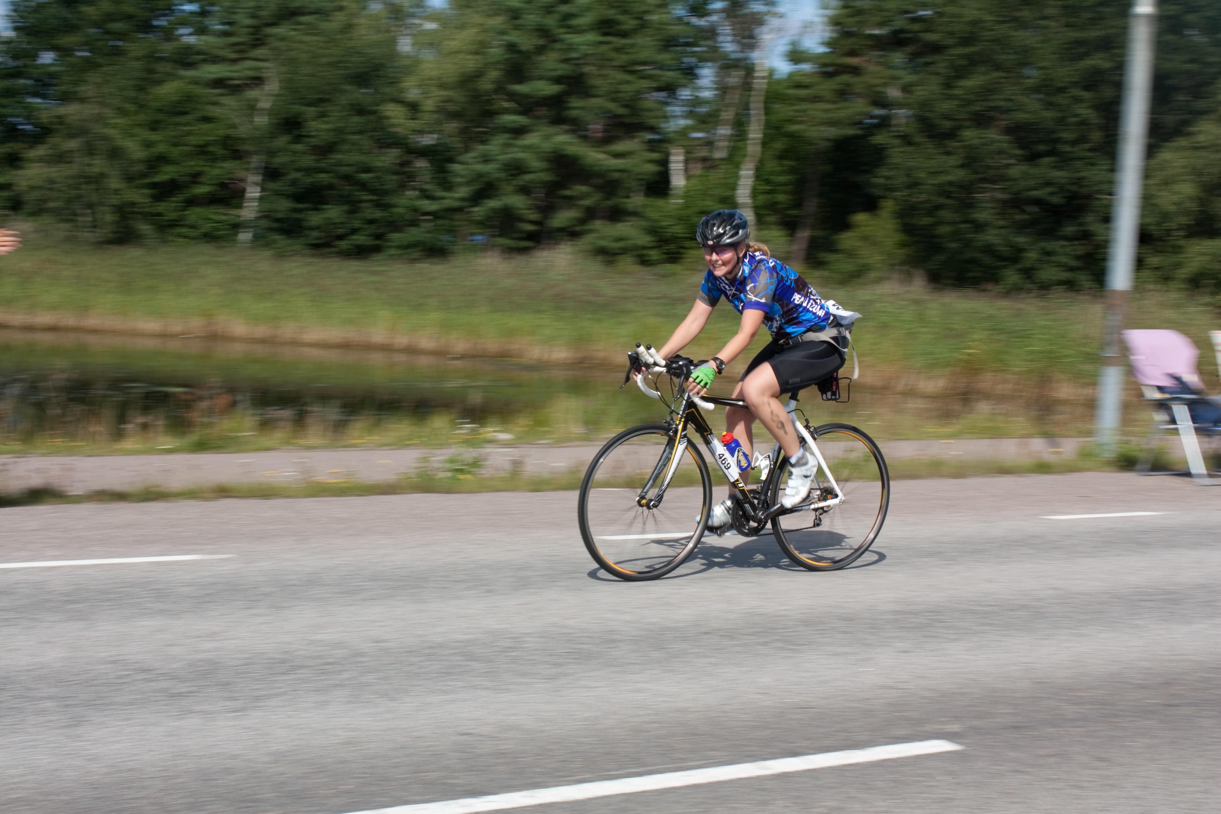 Första varvet på cykeln -check